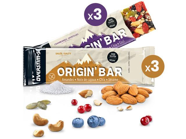 OVERSTIM.s Origin Caja Barritas Energéticas 6x40g, Mixed Flavors
